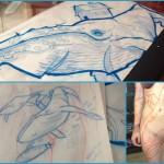 O artista e tatuador André Cruz busca suporte para arte