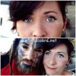 Eyeball tattooing pode ser preto e também branco