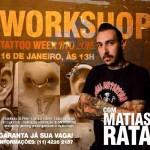 Rata estará ministrando workshop no Rio de Janeiro