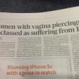 Essa semana a imprensa internacional está divulgando a informação que segundo o Departamento de Saúde da Inglaterra, todas as mulheres que tiverem piercings na vagina serão registradas como vítimas da […]