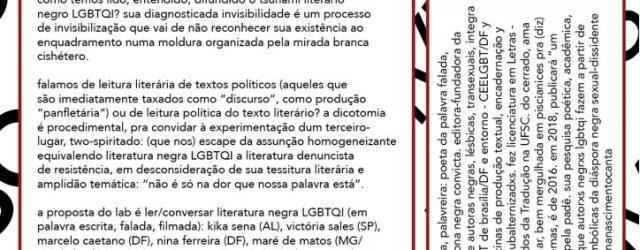 Acontece em Junho e Julho na cidade de São Paulo o Percursos Livres.Uma parceria entreLastro – Intercâmbios Livres em arteeAl Janiah, que nasce do desejo de pensar arte e […]